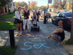 Nymphomaniacs group chalking for SHAW
